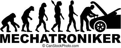אבולוציה, כותרת, גרמני, עבודה, mechatronics, הנדס