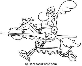 אביר, תאר, סוס *רוכב
