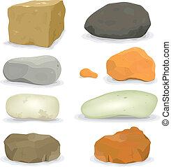 אבנים, סלעים, קבע