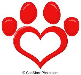 אדום, דוגמה, טלף, לוגו, הדפס, דירה, וקטור, עצב, אהוב