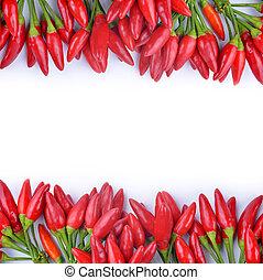אדום חם, פלפלים, צ'ילי