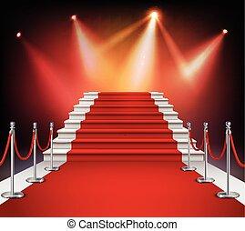 אדום, מדרגות, שטיח