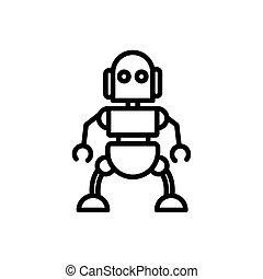 אוטומטי, רובוט, אופי, עיצוב ליניארי, תגמר, טכנולוגיה, מלאכותי