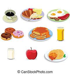 אוכל, ארוחת בוקר, איקונים