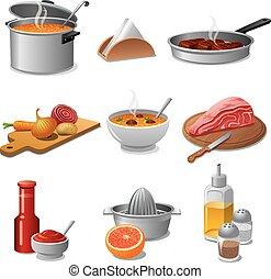 אוכל, בישול, קבע, איקון