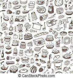 אוכל, בישול, seamless, רקע
