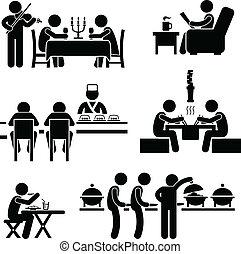 אוכל, בית קפה, שתה, מסעדה