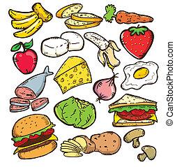 אוכל בריא, גירסה, צבע