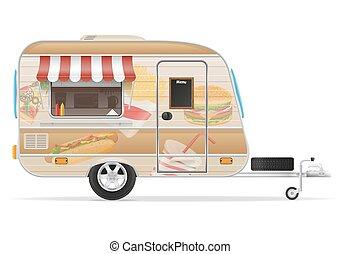 אוכל, וקטור, רכב נגרר, דוגמה, מהיר
