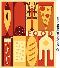 אוכל, וקטור, רקע