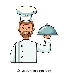 אוכל, טבח, ציור היתולי