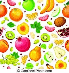 אוכל, טרי, טבעי, seamless, תבנית