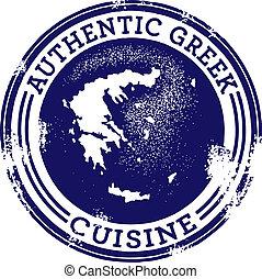 אוכל, יווני, קלאסי, אמיתי, ביל