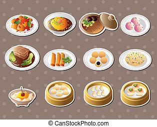 אוכל, מדבקות, סיני