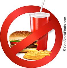אוכל, מהיר, label., סכנה