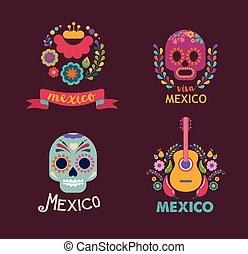 אוכל, מוסיקה, יסודות, גולגולת, מקסיקו