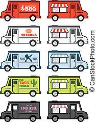 אוכל, משאית, גרפיקה