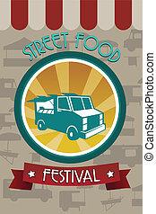 אוכל, פסטיבל, חוברת, רחוב