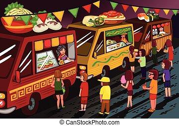 אוכל, פסטיבל, משאית