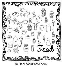 אוכל, ציור