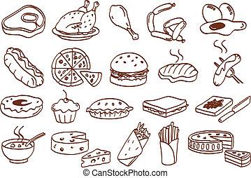 אוכל, קבע, איקון