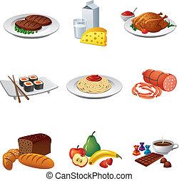 אוכל, קבע, ארוחה, איקון