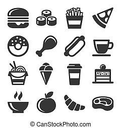 אוכל, קבע, מהיר, איקונים