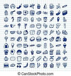 אוכל, שרבט, איקונים