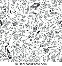 אוכל, תבנית, טבעי, seamless