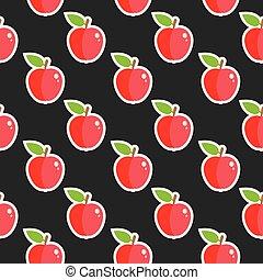 אוכל, תבנית, פרי, תפוח עץ, seamless
