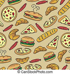 אוכל, תבנית, seamless
