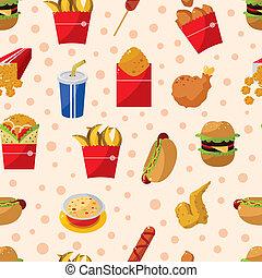 אוכל, תבנית, seamless, מהיר