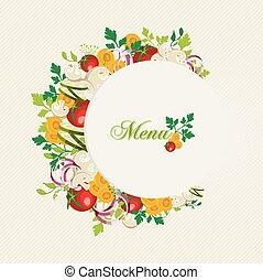 אוכל, תפריט, צמחוני, דוגמה