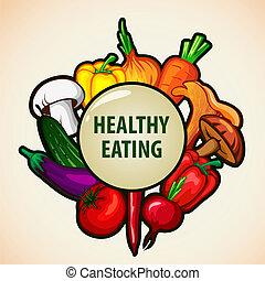 אוכל, תפריט, רקע, בריא