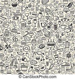 אוכל, backround, seamless, איקונים