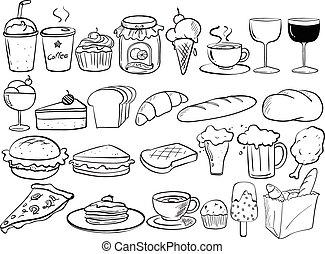 אוכל, doodles