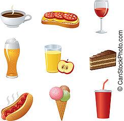 אוכל, drinkl, קבע, איקון