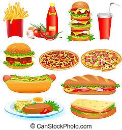 אוכל, pitsey, מהיר, קבע, קטשופ