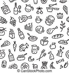 אוכל, seamless, רקע