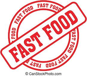 אוכל, stamp8, מילה, מהיר