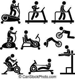 אולם התעמלות, אולם התעמלות, התאמן, כושר גופני