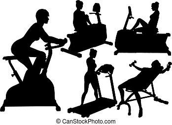 אולם התעמלות, נשים, אימונים, התאמן, כושר גופני