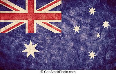 אוסטרליה, גראנג, flag., בציר, פריט, דגלים, ראטרו, אוסף, שלי