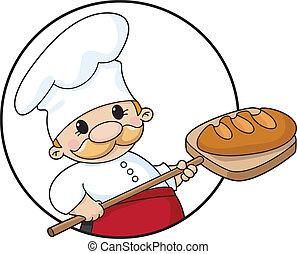 אופה, הסתובב, bread