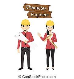 אופי, וקטור, קבע, דוגמה, הנדס