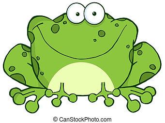 אופי, ציור היתולי, צפרדע, שמח
