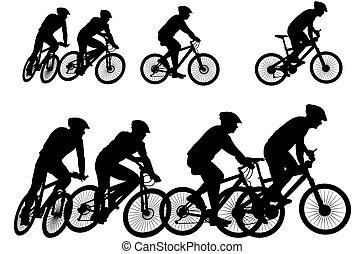 אופנן, -, אופניים, צללית, וקטור