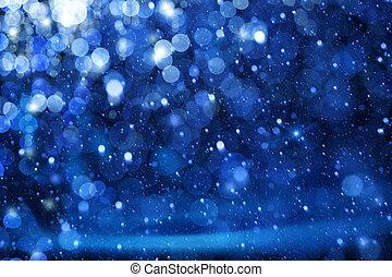 אורות כחולים, אומנות, חג המולד, רקע