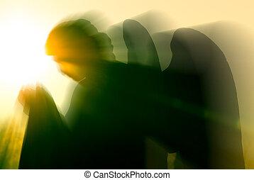 אור, אינטנסיבי, מלאך