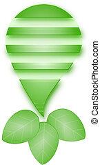 אור, וקטור, ירוק, נורת חשמל